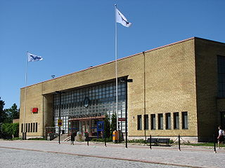 railway station in Turku, Finland