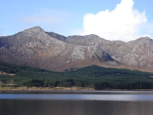 Twelve Bens - Bencorr from across Lough Inagh