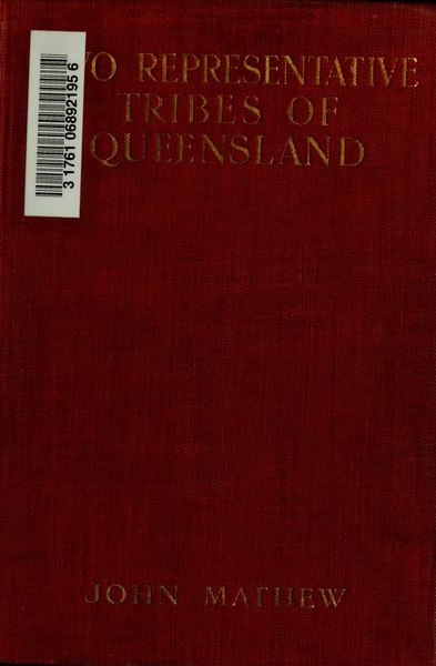 File:Two Representative Tribes of Queensland.djvu