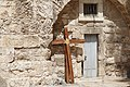 Two crosses in front of the Church of the Holy Sepulchre.jpg