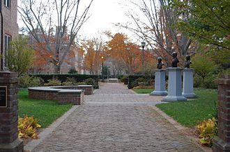 Lyon Gardiner Tyler - Tyler Memorial Garden, dedicated to Lyon Gardiner Tyler, his father, and his grandfather