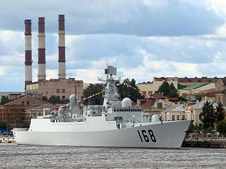 Type 052B destroyer - Image: Type 052B Guangzhou in Leningrad