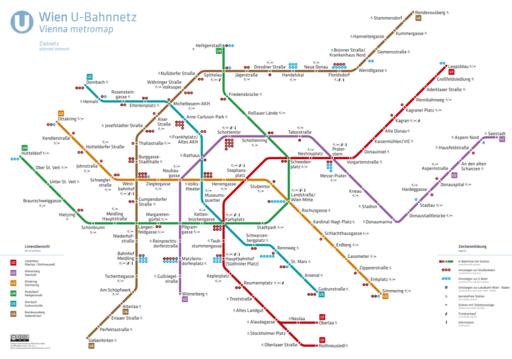 U-Bahnnetz Wien Zielnetz