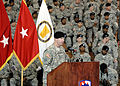 U.S. Army Col. John W. Baker speaks at the 35th Theater Tactical Signal Brigade change of command ceremony, at Fort Gordon, Ga., April 3, 2009 090403-A-NF756-002.jpg