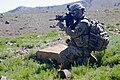 U.S. Army Sgt. Mark Kresge, with Baker Company, 1st Battalion, 506th Infantry Regiment, 4th Brigade Combat Team, 101st Airborne Division, scans his sector of fire in Paktia province, Afghanistan, May 29, 2013 130529-A-CW939-022.jpg