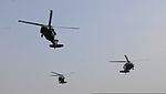 U.S. Army UH-60 Black Hawk helicopters carrying Army Gen. Lloyd Austin III, the commander of U.S. Central Command, and his staff prepare to land at Forward Operating Base Gamberi, Laghman province, Afghanistan 131006-A-CB167-001.jpg
