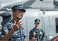 U.S. Navy Adm. Cecil D. Haney, left, the commander of the U.S. Pacific Fleet, speaks to visitors aboard the littoral combat ship USS Freedom (LCS 1) during a port visit March 11, 2013, at Joint Base Pearl 130311-N-QG393-123.jpg
