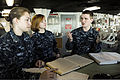 U.S. Navy quartermasters conduct in-rate training aboard the aircraft carrier USS Nimitz (CVN 68) Jan. 15, 2013, at Naval Station Everett, Wash 130115-N-HN953-010.jpg