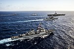 U.S. and Indian navy ships and Japan Maritime Self-Defense Force ships participate in a photo exercise in the East China Sea July 30, 2014.jpg