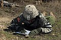 U.S. infantryman plots points for navigation during a competition.jpg