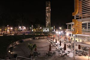 University of California, Riverside - UCR Bell Tower at night