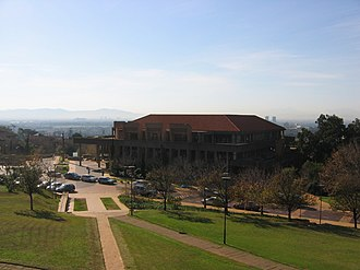 University of Cape Town - The Kramer Building, home of the Law Faculty, in 2006. Today, the Student Administration building stands to the north (left, in this photo) of the Kramer building, and to the north east stands the School of Economics building, both of which have been completed in 2011.