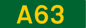 A63 road shield