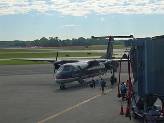 Piedmont Airlines - A US Airways Express Dash 8 at Albany International Airport