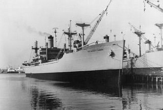 USNS Sgt. Archer T. Gammon (T-AK-243) - USNS Archer T. Gammon (T-AK-243) moored pierside, date and location unknown.