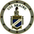 USS Braine (DD-630) insignia, in 1966 (NH 67159-KN).png