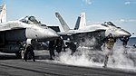 USS Dwight D. Eisenhower conducts flight operations. (31656146192).jpg