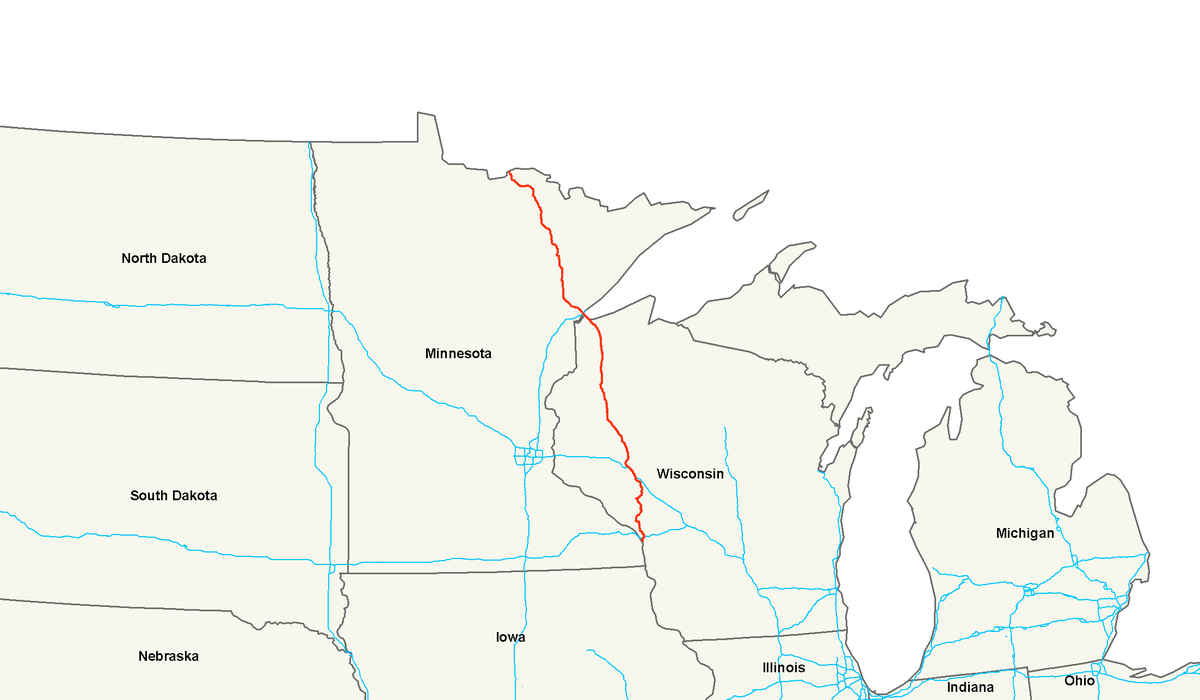 US Route Wikipedia - Wisconsin road map usa