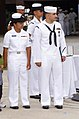 US Navy 040811-N-0000N-006 Hospitalman Apprentice Luis E. Fonseca, Jr., stands with his spouse.jpg