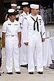 US Navy 040811-N-0000N-006 Hospitalman Apprentice Luis E. Fonseca, Jr., stands with his spouse.jpg
