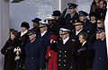US Navy 050120-F-3231D-306 The Joint Chiefs of Staff and the Joint Task Force-Armed Forces Inaugural Committee (JTF-AFIC) Combatant Commanders stand at attention during the playing of the National Anthem at the 2005 Presidentia.jpg
