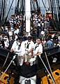 US Navy 060623-N-5367L-003 USS Constitution crew members stand by on the ship's bowsprit prior to a 21-gun salute to the nation.jpg
