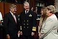 US Navy 070927-N-3642E-019 Adm. Gary Roughead, commander of U.S. Fleet Forces Command and his wife and daughter meet with Sen. Ben Nelson, D-Neb., prior to testifying before the Committee on Armed Services for his confirmation.jpg