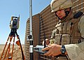 US Navy 090904-N-4440L-003 Engineering Aide 3rd Class William Anderson, assigned to Naval Mobile Construction Battalion (NMCB) 74, programs a Trimble S6 Total Station robotic surveying system.jpg