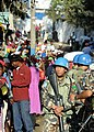 US Navy 100220-N-5961C-009 U.N. peacekeepers from Nepal provided security at a rice distribution point in Kenscoff, Haiti.jpg