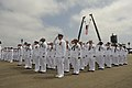 US Navy 110723-N-XZ597-034 Seabees salute the colors on the Port Hueneme ceremonial grinder during Seabee Days 2011.jpg