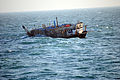 US Navy 120110-G-ZZ999-002 A port beam view photograph of the Iran-flagged dhow, Ya-Hussayn, taken from the U.S. Coast Guard Cutter Monomoy (WPB-13.jpg