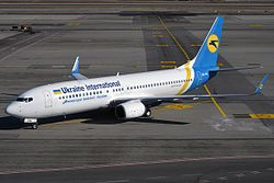 Ukraine International Airlines, UR-PSU, Boeing 737-8AS (32645632946).jpg