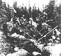 Українські пластуни провадять вправи на Чорногорі, 1914 рік