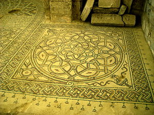 Amman Governorate - Byzantine mosaic in the Church of Saint Stephen in Umm ar-Rasas.