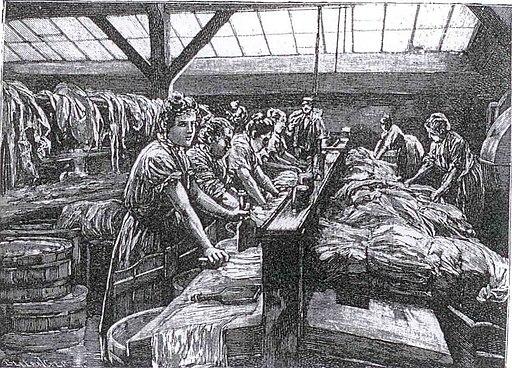 Un lavoir parisien 1891