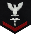 United States Navy hospital corpsman third class service dress blue rating badge.png