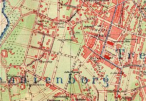 Uranienborg, Norway - Map of Uranienborg, c.1900