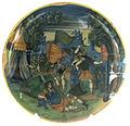 Urbino, bottega dei fontana, lotta tra enea e turno, 1565-80 ca..JPG