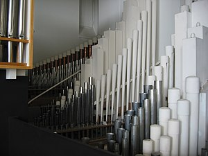 Lakeuden Risti Church - Image: Urkujen pillisarjat