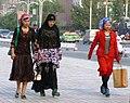 Uyghur women on their way to work, Kashgar. 2011.jpg