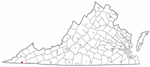 Weber City, Virginia - Image: VA Map doton Weber City