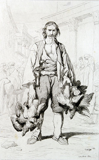 Morlachs - Morlach peasant from the Split region. Théodore Valerio (1819–1879), 1864.