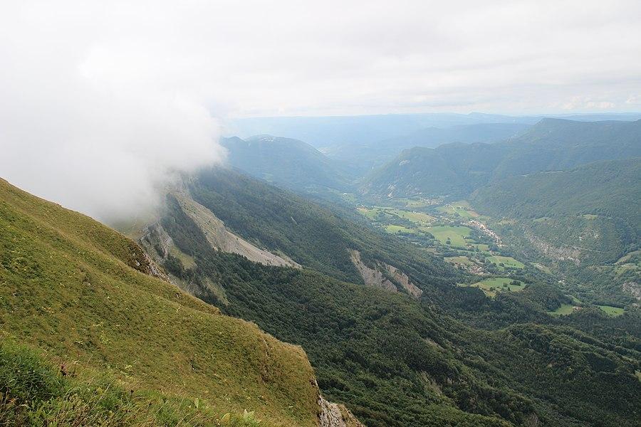 Vallée de la Valserine from La Marie du Jura