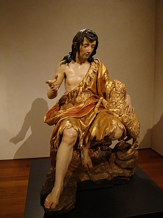 Saint John the Baptist (Alonso Cano) - Image: Valladolid museo escultura San Juan Bautista Alonso Cano ni
