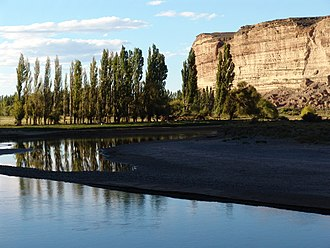 Chubut River - A valley at Chubut River