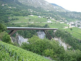 Leuk - Bridge over the Dala gorge