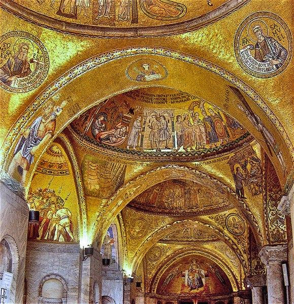 Mosaïques du dôme central, de la nef et du transept
