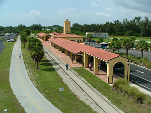 Venice Seaboard Air Line Railway Station - Image: Venice Depot Aerial from south