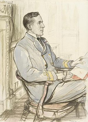 George Hope (Royal Navy officer) - 1917 portrait by Francis Dodd