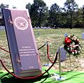 Victims of the Terrorist Attack on the Pentagon Memorial - burial vault cover - Arlington National Cemetery - 2002-09-12.jpg